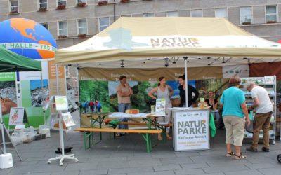 Naturparkpräsentation zum Umwelt- und Fahrradtag in Halle