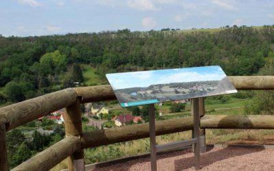 Fertigstellung des Informations- und Aussichtspunktes auf dem Saalberg in Rothenburg