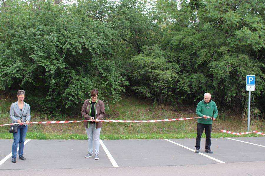 Einweihung des Wanderparkplatzes