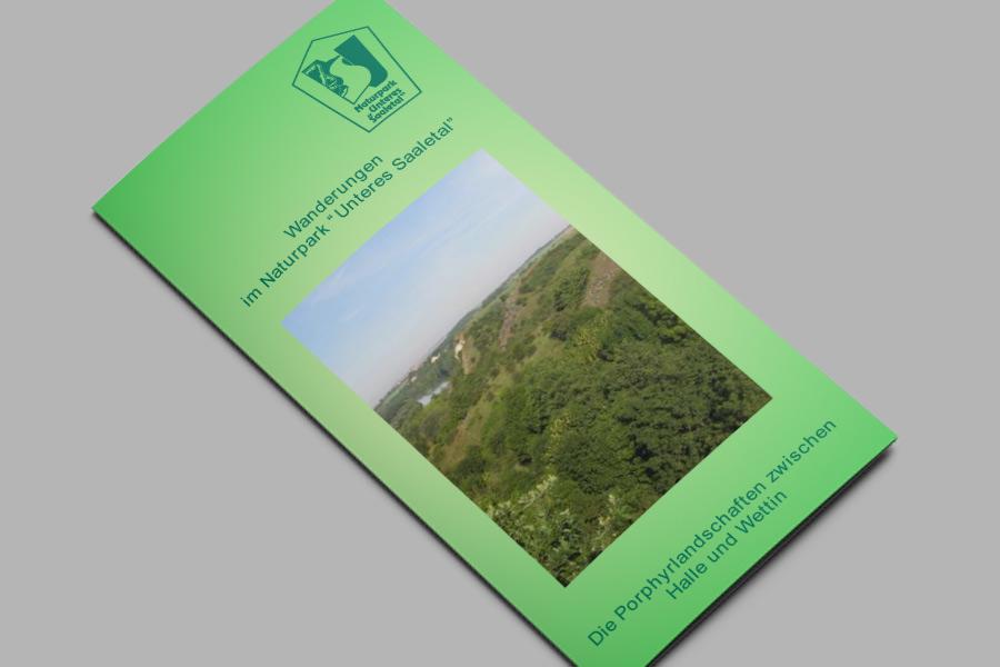 Flyer: Die Porphyrlandschaften zwischen Halle und Wettin