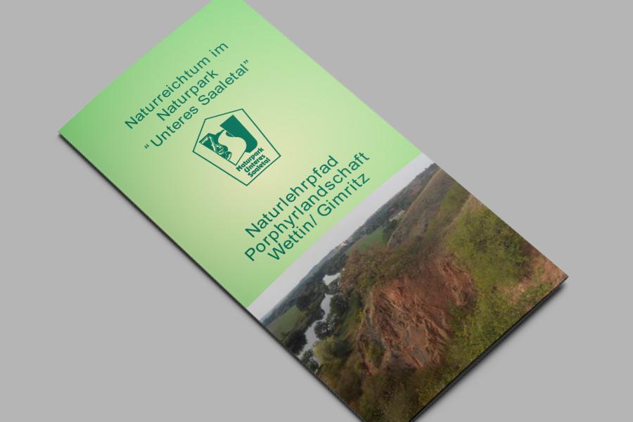 Flyer: Naturlehrpfad Porphyrlandschaft Wettin/Gimritz